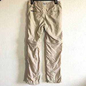 Columbia women's tan zip off pant shorts khaki 6
